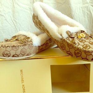 Michael Kors Cori Fur-lined Moccasin Slipper